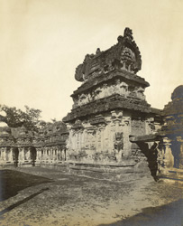 View of the second entrance gopuram [?Mahendravarmeshvara Shrine], Kailasanatha Temple, Great Conjeeveram, Chingleput District